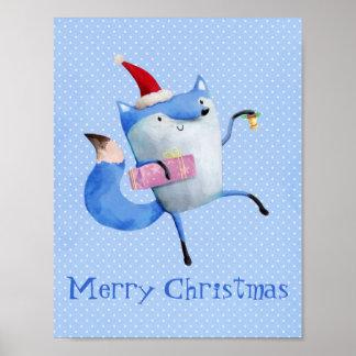 Fox polar del navidad impresiones