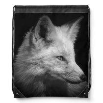 Fox Portrait Drawstring Backpack