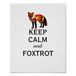 fox poster keep calm and foxtrot wall art
