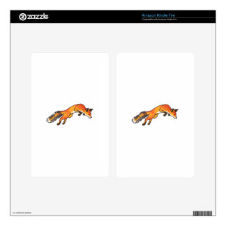 Fox Pounce Decals For Kindle Fire