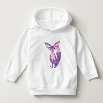 Fox Purple & Pink Lace Pattern Hoodie