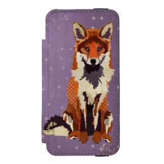 Fox Purple Stars iPhone Wallet