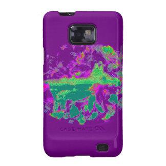 Fox púrpura del extracto galaxy s2 fundas