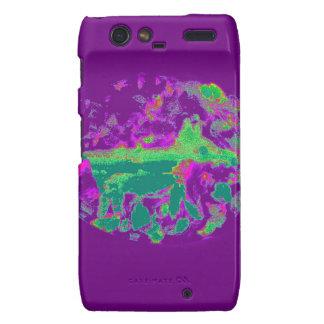 Fox púrpura del extracto droid RAZR carcasa