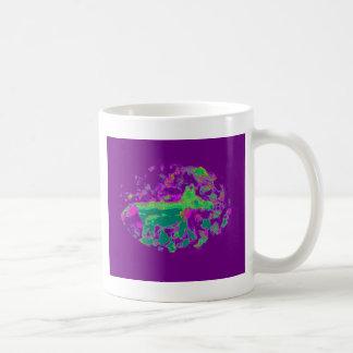 Fox púrpura del extracto taza básica blanca