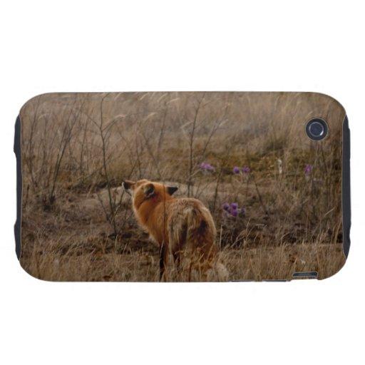 Fox que huele las azafranes tough iPhone 3 carcasas