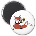 Fox que juega el Trombone Imán