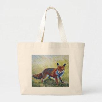 Fox que mira la pintura asustada bolsas