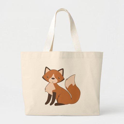 Fox que se sienta lindo bolsa lienzo