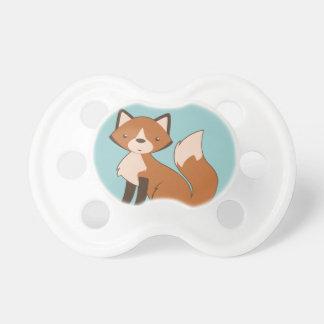 Fox que se sienta lindo chupete de bebé