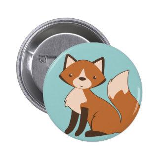 Fox que se sienta lindo pins