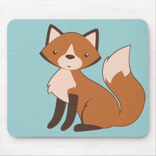 Fox que se sienta lindo tapete de ratón