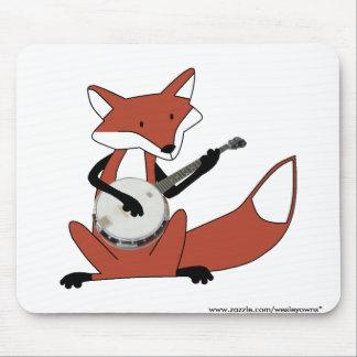 Fox que toca el banjo alfombrilla de ratón