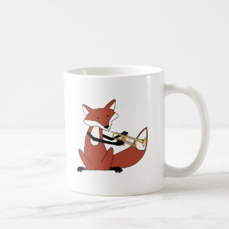 Fox que toca la trompeta taza