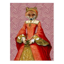 Fox Queen Postcard