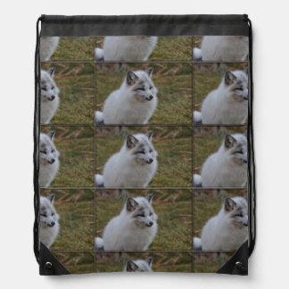 Fox rápido blanco hermoso mochilas