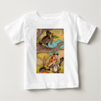 Fox & Raven from Aesop's Fables Baby T-Shirt