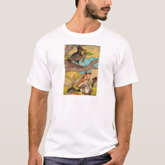 Fox & Raven from Aesop's Fables T-Shirt
