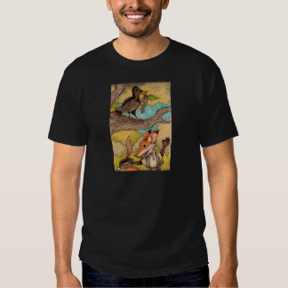 Fox & Raven from Aesop's Fables Tshirts