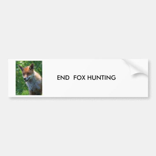 fox red beautiful photo custom bumper sticker