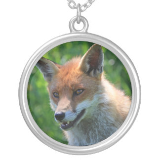 fox red beautiful photo pendant,  necklace