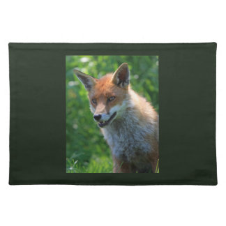 Fox red beautiful photo placemat cloth place mat