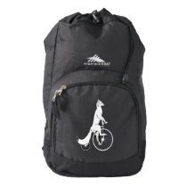 Fox Riding a Bike Backpack