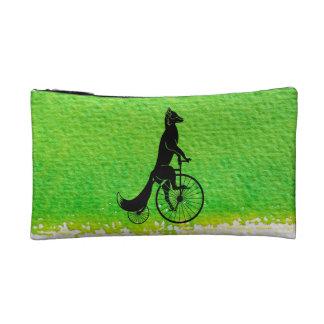Fox Riding a Bike Cosmetic Bag