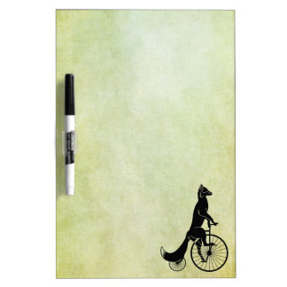Fox Riding a Bike Dry Erase Board