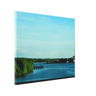 Fox River Scenic View Canvas Print