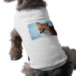Fox rojo bonito camisetas de mascota