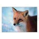 Fox rojo bonito felicitacion