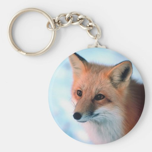 Fox rojo bonito llaveros personalizados