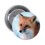 Fox rojo bonito pin
