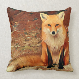 Fox rojo cojín decorativo
