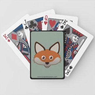 Fox rojo de papel cartas de juego