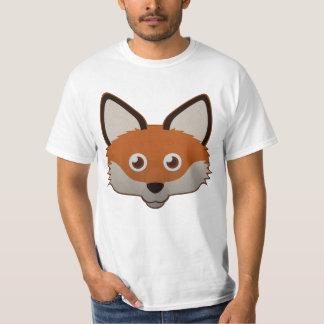 Fox rojo de papel playera
