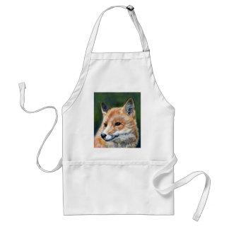 Fox rojo de Sharon Coyle Delantal