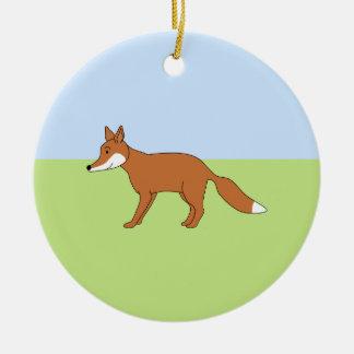 Fox rojo adorno para reyes