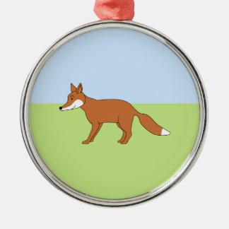 Fox rojo ornamento para reyes magos