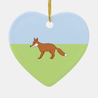 Fox rojo ornamentos de reyes magos
