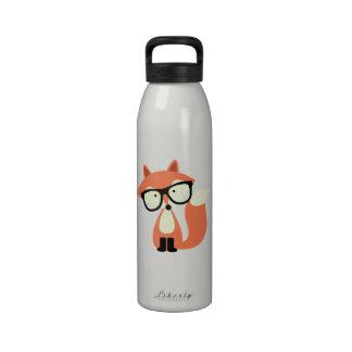 Fox rojo del inconformista lindo botella de agua reutilizable