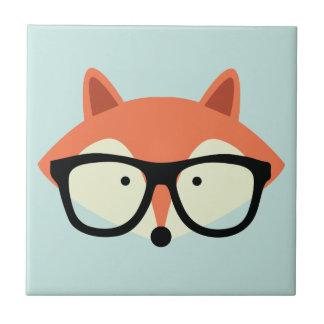 Fox rojo del inconformista lindo azulejo cuadrado pequeño