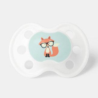 Fox rojo del inconformista lindo chupetes de bebe