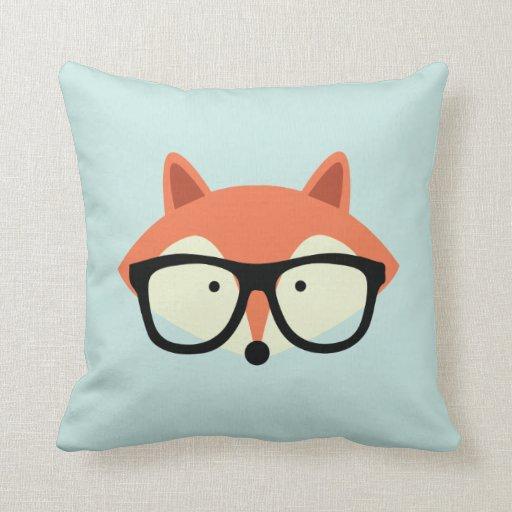 Fox rojo del inconformista lindo almohada