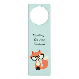 Fox rojo del inconformista lindo colgador para puerta