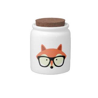 Fox rojo del inconformista lindo platos para caramelos