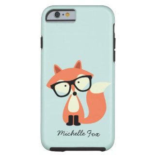 Fox rojo del inconformista lindo iPhone 4 Case-Mate coberturas