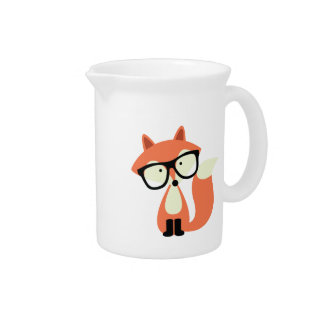 Fox rojo del inconformista lindo jarras