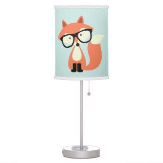 Fox rojo del inconformista lindo lámpara de escritorio